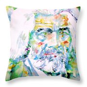 Frederick Douglass - Watercolor Portrait Throw Pillow