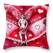 Free As A Valentines Love Throw Pillow by Shana Rowe Jackson