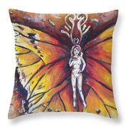 Free As The Flame Throw Pillow