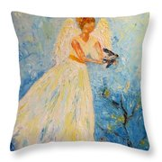 Free At Last, Angel Throw Pillow