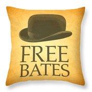 Free Bates Throw Pillow