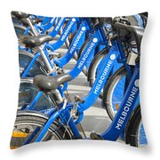 Free Bicycle System In Melbourne Australia Throw Pillow