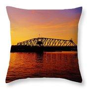Free Bridge Throw Pillow