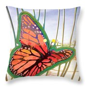 Free Butterfly Fly Throw Pillow