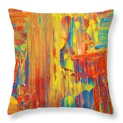 Free D Colors Throw Pillow