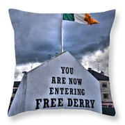 Free Derry Wall Throw Pillow