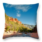 Free Flow At Oak Creek Throw Pillow by Silvio Ligutti
