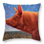 Free Range Pig Throw Pillow