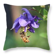 Free Swinging And Gathering Throw Pillow