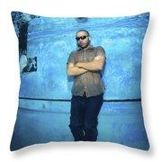 Freediver  Throw Pillow