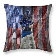 Freedom Ain't Free Throw Pillow by DJ Florek