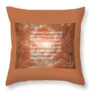 Freedom And Courage Throw Pillow