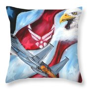 Freedom Eagles Throw Pillow