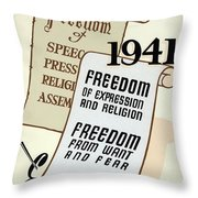 Freedom Everywhere In The World Throw Pillow