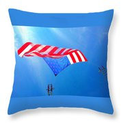 Freedom In Flight  Throw Pillow