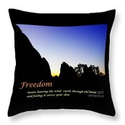 Freedom Means 002 Throw Pillow