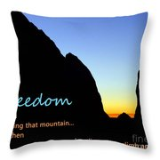 Freedom Means 003 Throw Pillow