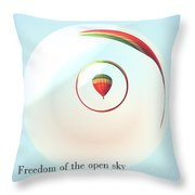 Freedom Of The Open Sky Throw Pillow