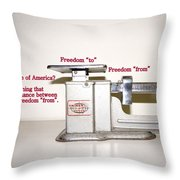 Freedom To Freedom From Throw Pillow