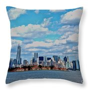 Lower Manhattan Throw Pillow
