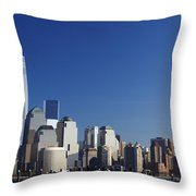 Freedom Tower And Lower Manhattan Throw Pillow