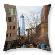Freedom Tower From Washington Square Throw Pillow