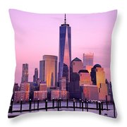 Freedom Tower Nyc Throw Pillow