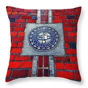 Freedom Trail Throw Pillow