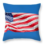 Freedom American Flag Art Prints Throw Pillow