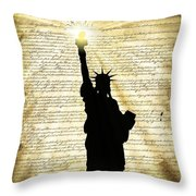 Freedoms Light Throw Pillow