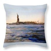 Freedom's Silhouette II Throw Pillow