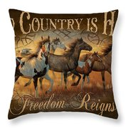Freedon Reigns Throw Pillow