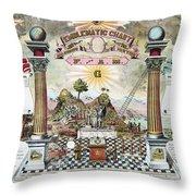 Freemason Emblematic Chart Throw Pillow