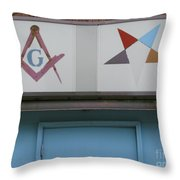 Freemasons Throw Pillow