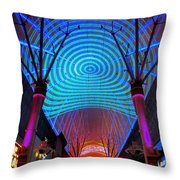 Freemont Street Experience One Throw Pillow