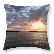 Freeport Cloudy Summertime Sunset Throw Pillow