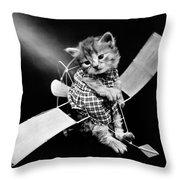 Frees Kittens, C1914 Throw Pillow