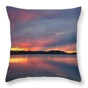 Freezeout Lake Sunset Throw Pillow