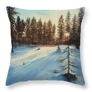 Freezing Forest Throw Pillow