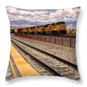 Freight Expectations Palm Springs Throw Pillow