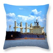 Freight Hauler Throw Pillow