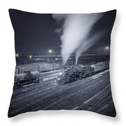 Freight Train About To Leave The Atchison Circa 1943 Throw Pillow