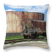 Freight Train Cars 4 Throw Pillow