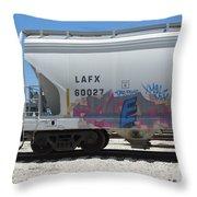 Freight Train Graffiti 7 Throw Pillow