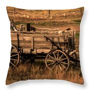 Freight Wagon Throw Pillow by Robert Bales