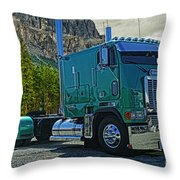 Freightliner Cabover Throw Pillow