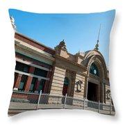 Fremantle Train Station Throw Pillow
