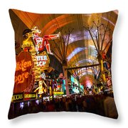 Fremont Street Experience Lights Throw Pillow