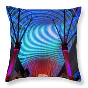 Fremont Street Experience Three Throw Pillow