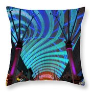Fremont Street Experience Two Throw Pillow